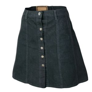Vintage Skirt Black Denim