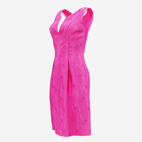 Shiny Pink Flower Dress