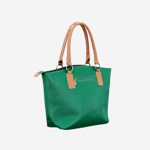 Green Brown Leather Handbag
