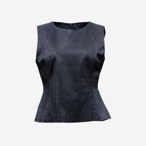 Black Leather Mini Jacket
