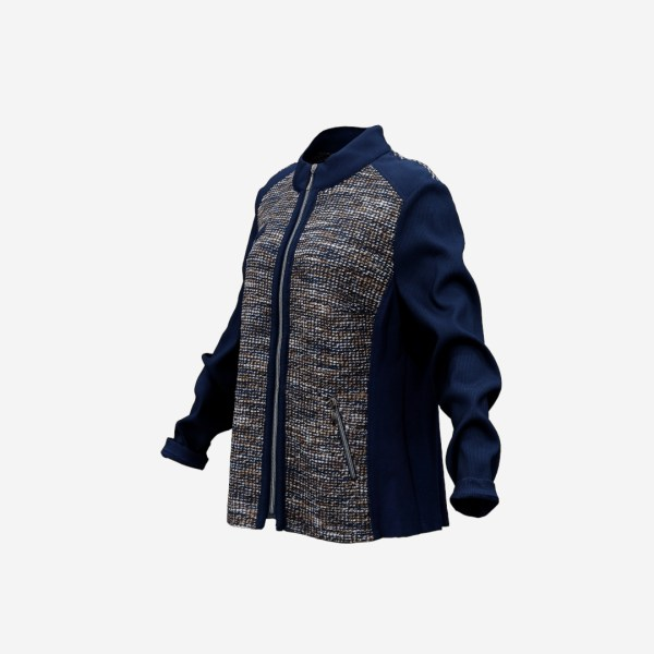 Blue Decorated Jacket