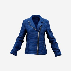 Blue Fabric Jacket
