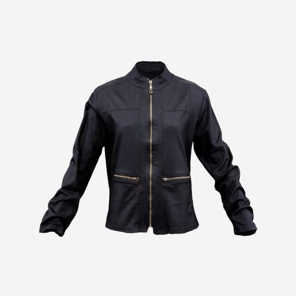 Brown Jacket Golden Zippers