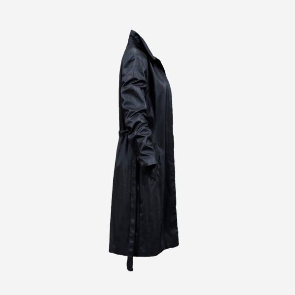 Long Black Leather Underworld Coat Open