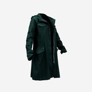 Long Green Coat Open