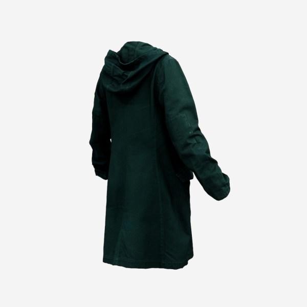 Long Green Coat Open