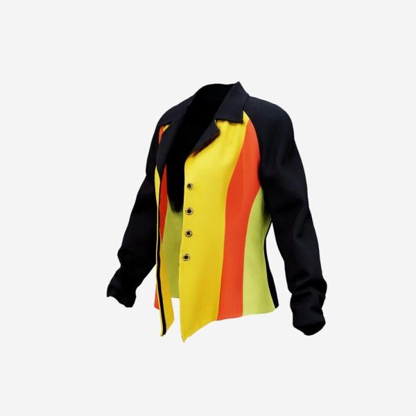Yellow Red Green Rasta Stylish Jacket