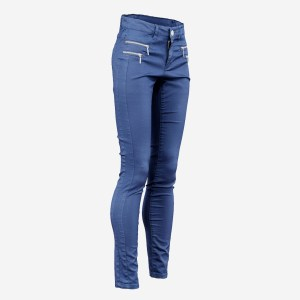 Blue Zipper Pants Trousers
