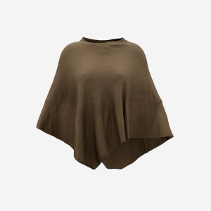 Brown Knit Cape