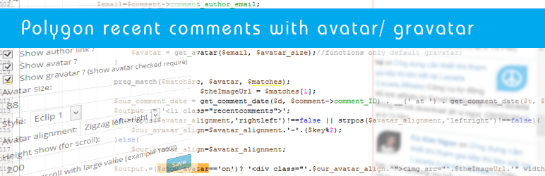 Plugin polygon recent comments hỗ trợ hiển thị avatar/ gravatar