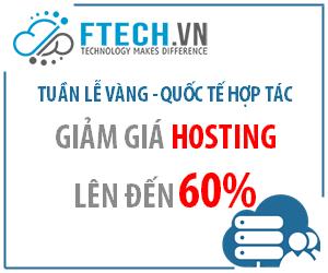 Khuyến mãi hosting chất lượng tại FTECH.VN