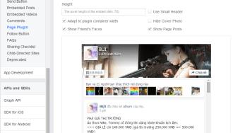 Hướng dẫn mã chèn FaceBook fanpage vào website thế nào ?