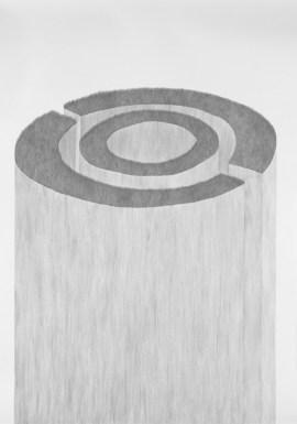 Ingrid Ogenstedt, Mushroom Book 5, Pencil drawings on paper, 2014, 59 x 84 cm