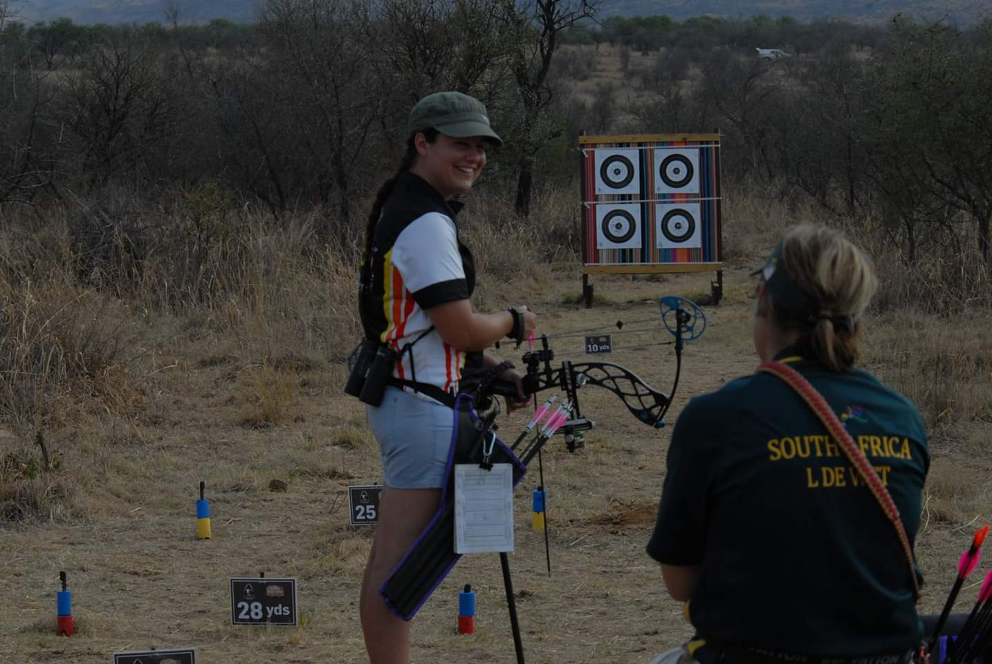 Joanette Karsten of the Polygraph Institute of South Africa representing the country in the World Field Archery Championships 2018.