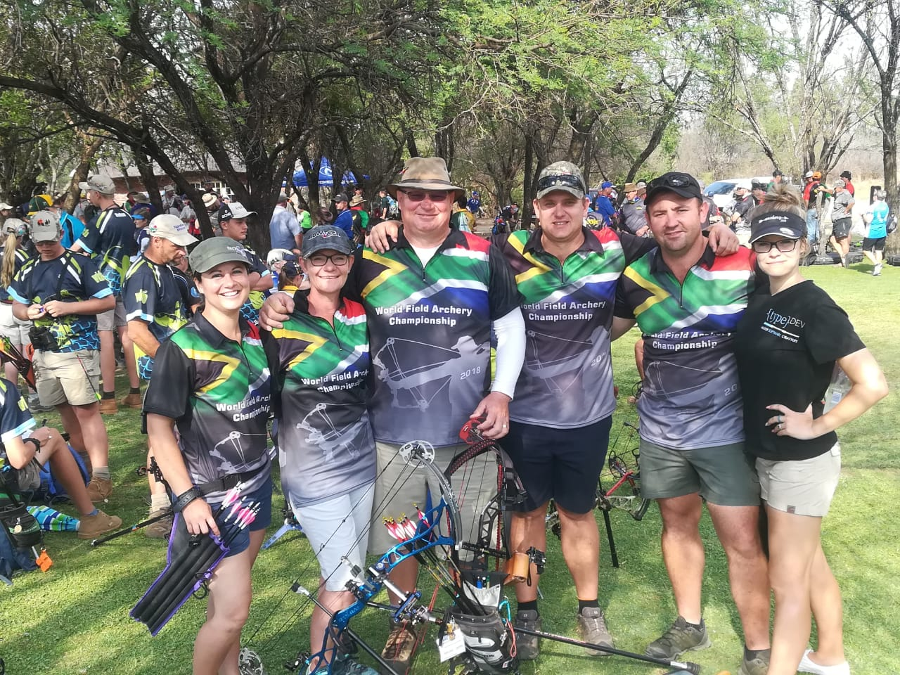 Polygraph Examiners representing South Africa at the International Field Archery Association World Field Archery Championship 2018