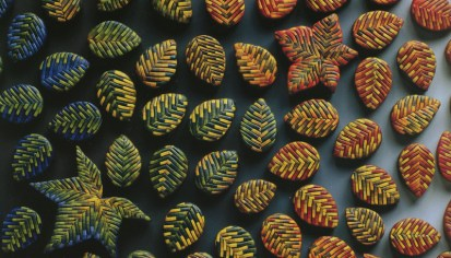 Laura Liska, Bargello leaf Beads, 1996
