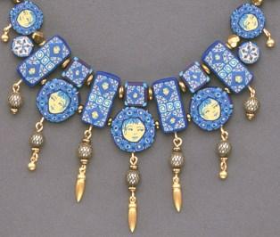 Sarah Shriver Blue Beads detail