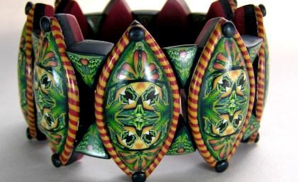 Sarah Shriver, Kaleidoscope Caned Bracelet, 2000