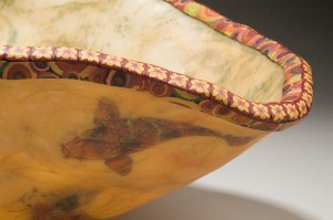 Detail - Barbara Sperling and Michael Sakash, Koi Bowl with Lilac Stand, 2006