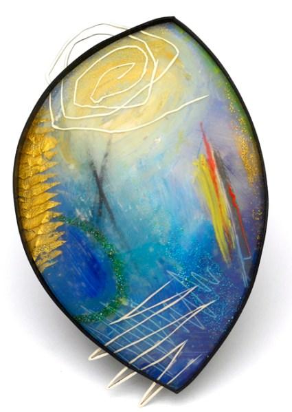 Kathleen Dustin, Blue Layered Fragment, 2011