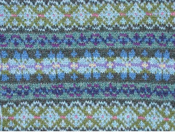 Fair Isle knit sample (via patchworksbydebi.com)