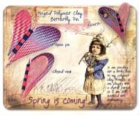 Kathleen Amt. Heart/Butterfly Pin, 1997