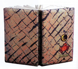 Kathleen Amt, book form with mokume gane employing V-cutouts