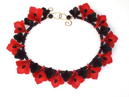 Nancy Banks, Necklace, 2006, polymer, wire
