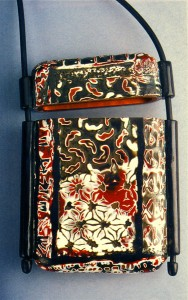 Nan Roche, Inro with mokume gane employing stamps and molds