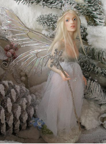 Yule - Winter Solstice Fairy by Nenufar Blanco
