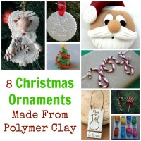 8 Christmas Ornaments Made From Polymer Clay