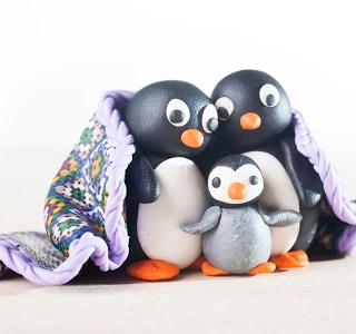 Polymer Clay Penguins