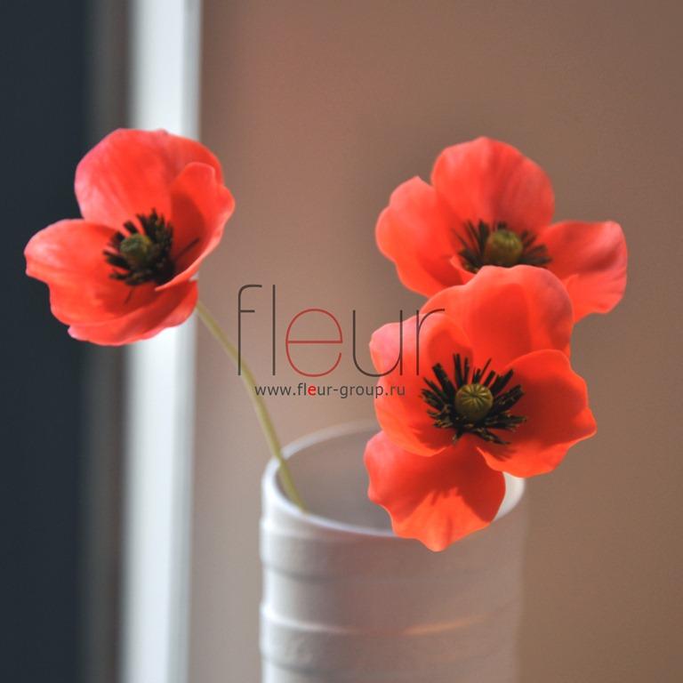 Polymer Clay Poppy