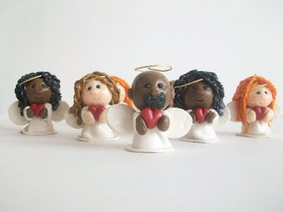 Polymer Clay Angel Figures