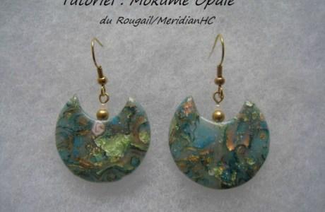 Faux Opal Mokume Gane