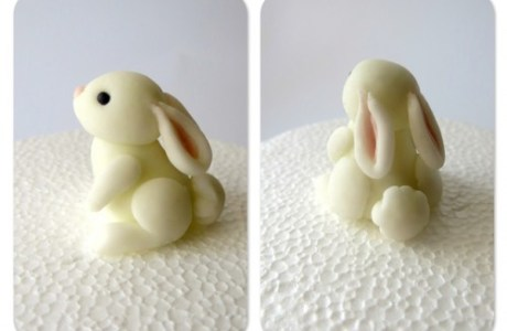 Polymer Clay Bunny Sculptures