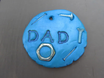 Fathers Day Clay Keychain