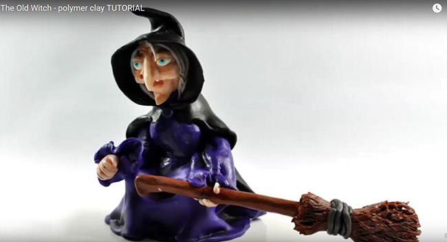 Sculpt a Polymer Clay Witch