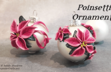 Polymer Clay Poinsettia Ornaments