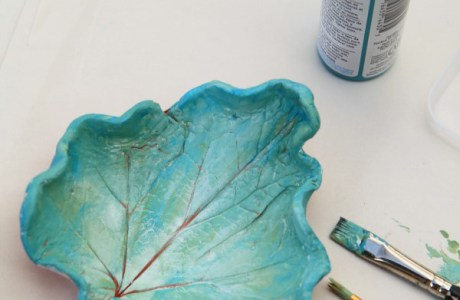 Clay Leaf Dishes