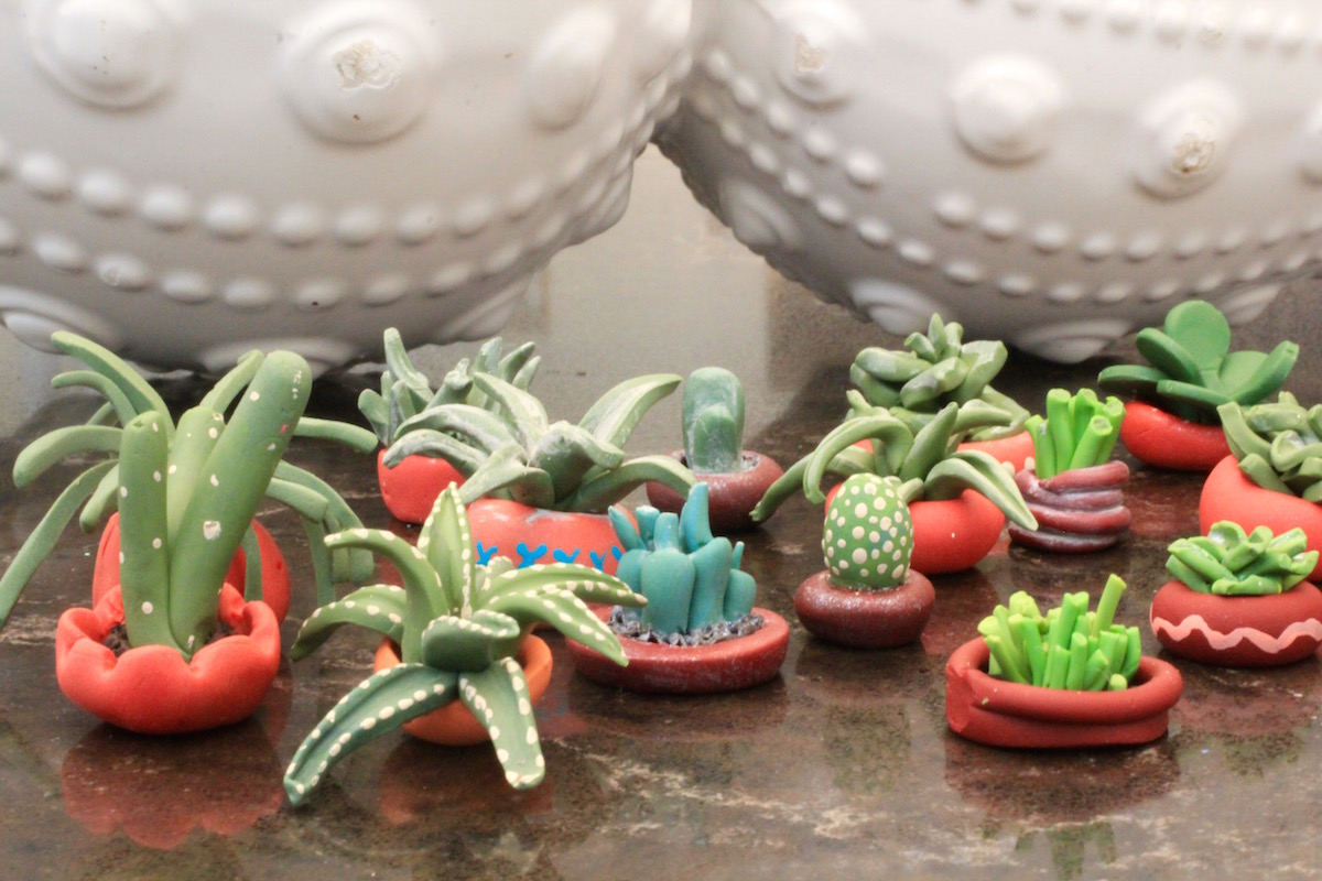 Mini Succulents from Polymer Clay