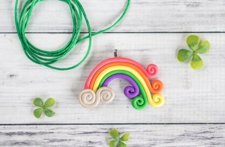 Polymer Clay Rainbow Necklace