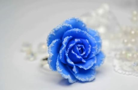 Polymer Clay Winter Rose