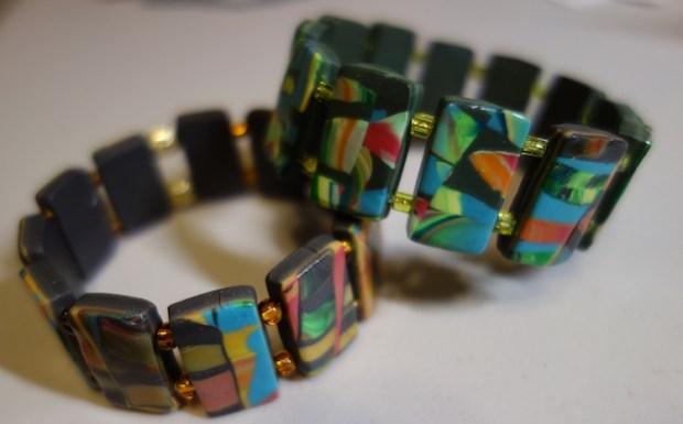 Picture of Scrap Clay Veneer Bracelet by Nancy B