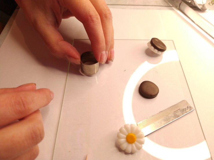 11 Chocolate biscuits polymer clay
