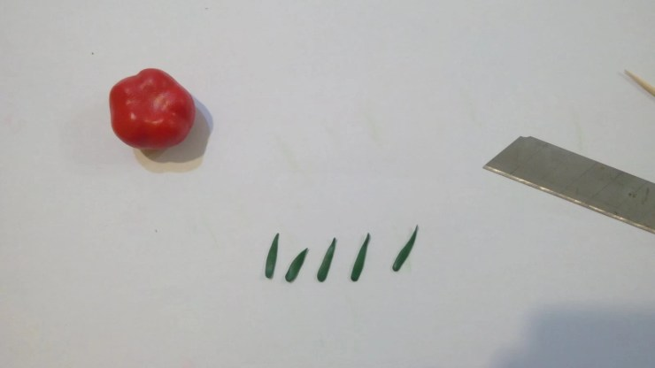 11 Polymer clay tomato. Photo tutorial on polymer clay food