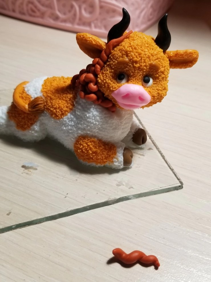 18a Bull from polymer clay.