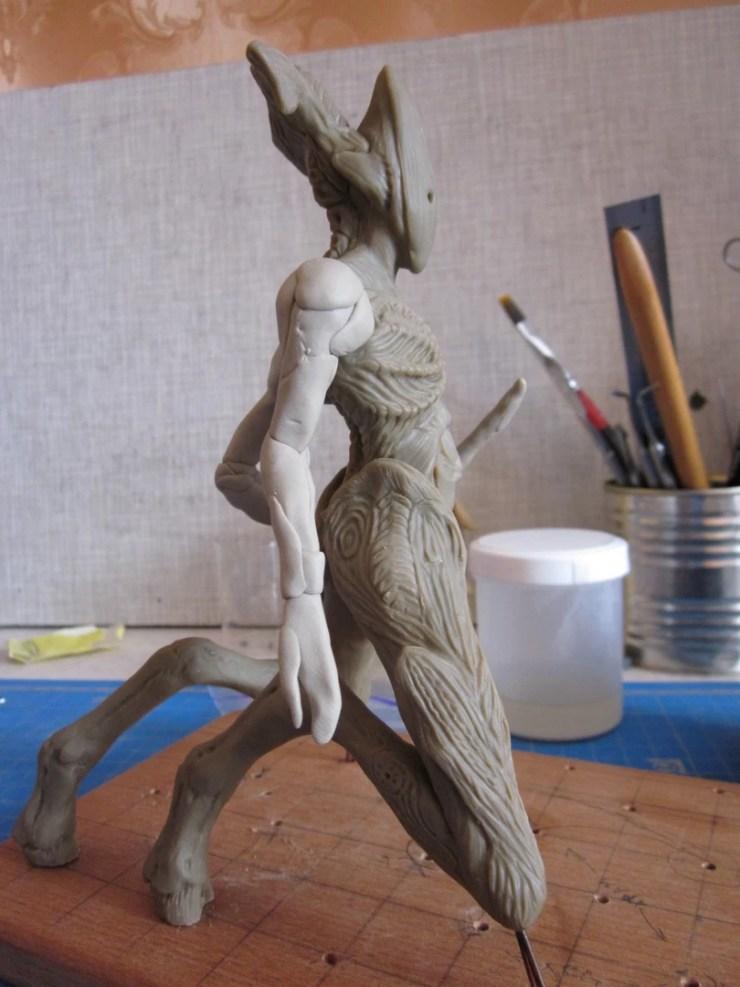 3 Polymer clay figurine monster
