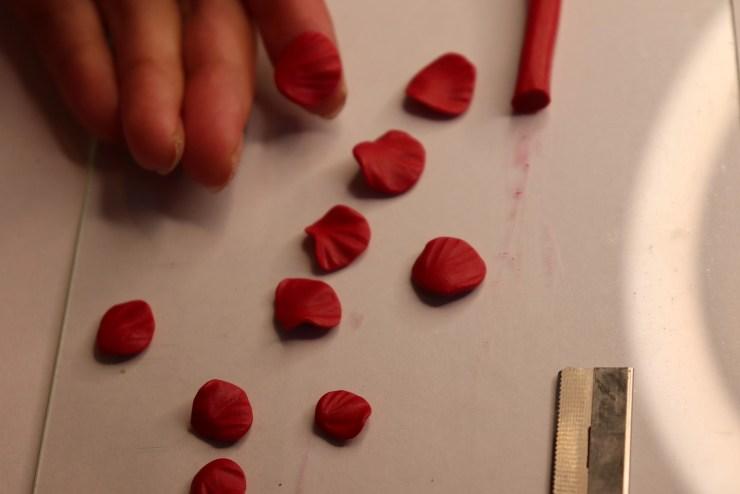 7 polymer clay flower rose. Photo tutorial
