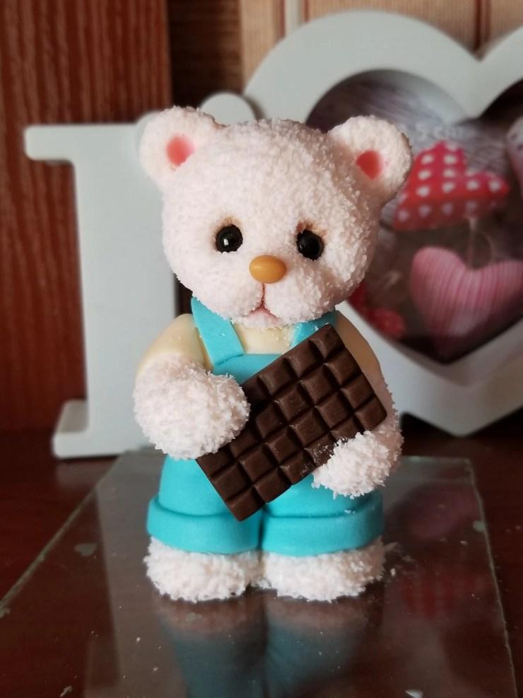 Teddy Bear made of polymer clay. Polymer clay figurine idea